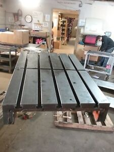 33 X 21 X 5 Steel Weld T slot Table Cast Iron Layout 5 Slot Jig
