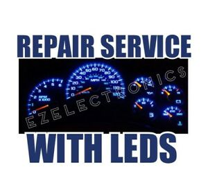 2003 To 2006 Instrument Cluster Repair Service Gmc Chevrolet Whit Led Upgrade
