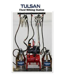 Tulsan Complete Electric Fixed Milking Station For 2 Cows Ideal For Small Farms