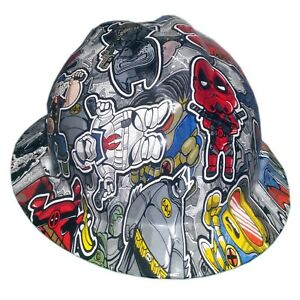 Twisted Toons Msa V guard Full Brim Hard Hat