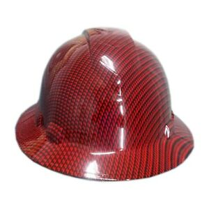 Red Carbon Fiber Pyramex Ridgeline Hard Hat