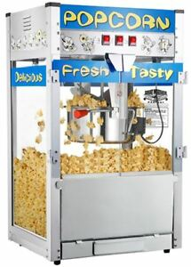 Gourmet Popcorn Machine Movie Theater Kettle Commercial Quality Popper Maker New
