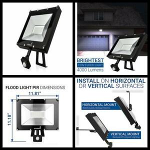 Outdoor Flood Light Led Motion Sensor 50w 4000 Lumens Crystal White Glow Lamp