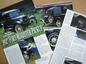 P 27 1927 Ford Roadster Pickup Truck Info