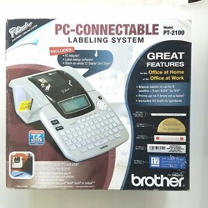 Brother Pt 2100 Electronic Labeling System Pc Connectable New In Box
