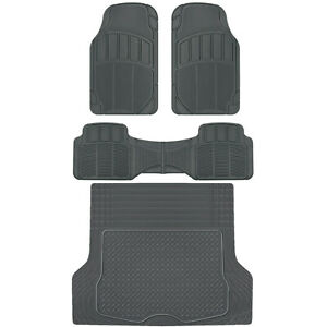 Acdelco All climate Rubber Floor Mats Hd Deep Dish Spill Capturing Car Liners