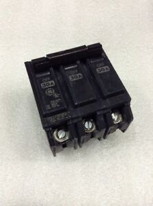 Ge General Electric Thql32030 New Circuit Breaker 3 Pole Amp 240v box Of 3