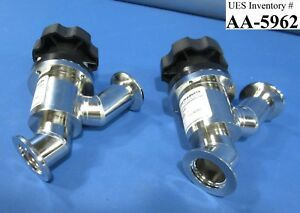 Nor cal Aiv 1002 nwb Inline Manual Isolation Valves Lot Of 2 Used Working
