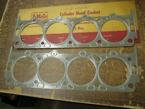Nos Oem Ford 1958 1959 1960 Fairlane Thunderbird Mercury Head Gaskets 430ci