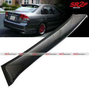 Rear Roof Window Visor Guard Spoiler Lip Wing Fits 2001 2005 Honda Civic Sedan