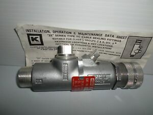 new Hubbell Killark Ze 367 Explosion Proof 1 Cable Sealing Fitting Eny 3