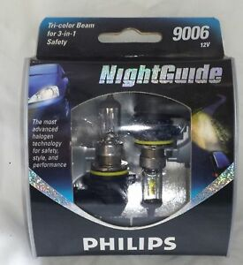 New Philips 9006 Halogen Bulbs Night Guide 9006 Ngs2 12v 2 Pack