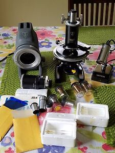 Bausch Lomb 16033 443 Microscope Nice Lot Check It Out