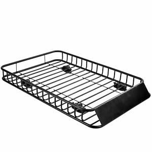 New 64 Roof Rack Cargo Top Luggage Holder Carrier Basket With Extension Travel