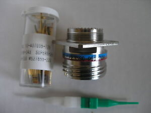 Amphenol D38999 20fe35sc Circular Mil spec Connector Plug With Contacts