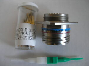 Amphenol D38999 20ff35sn Circular Mil spec Connector Plug With Contacts
