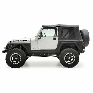 Smittybilt Replacement Soft Top W tinted Windows Fits 97 06 Tj wrangler rubicon
