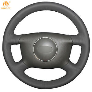 Dark Gray Leather Diy Steering Wheel Cover For Audi A6 2000 04 A3 2000 03 0275