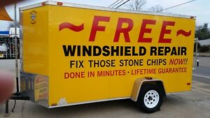 Cargo Utility Trailer Used For Windshield Repair 12 X 6