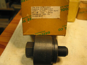 Greenlee 1 3 4 Round Radio Chassis Punch New Good Condition
