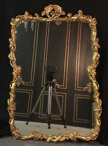 Vintage Vine Italian Gilt Mirror Carved Wood