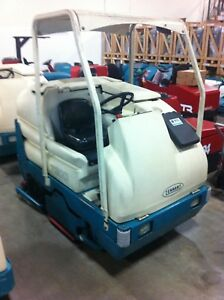 Tennant 7300 ride On Scrubber Floor Cleaner Used From Our Rental Department