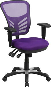 Mesh Highly Adjustable Swivel Tilt Gaming Home Office Desk Chair W arms 9 Colors