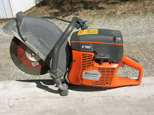 Husqvarna K760 Concrete Cut Off Saw 14 Wet Dry Domo Saw Great Condition