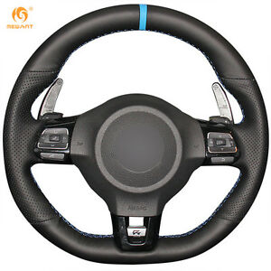 Diy Leather Steering Wheel Cover For Vw Golf 6 Gti Mk6 Polo Scirocco R 0370