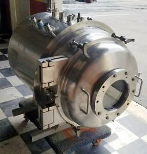 Two Stainless Steel Tanks From Virtis Lyophilizer Freeze Dryer