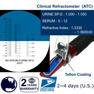 Clinical Serum Protein Specific Gravity Refractometer With Atc Portable Holster