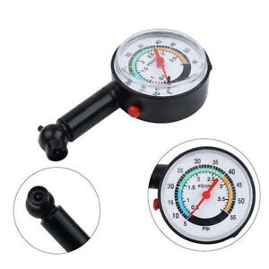0 55psi Tyre Tire Air Pressure Gauge Dial Meter Tester For Car Truck Bike Auto
