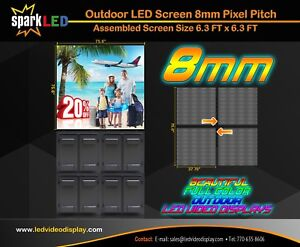 Outdoor Led Sign P8 6 x6 Full color Single sided Programmable Digital Display