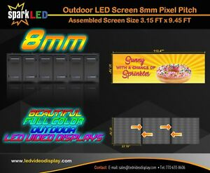 Outdoor Led Sign P8 3 15 x9 45 Full color Single sided Digital Display