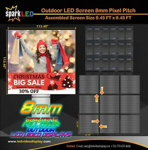 Outdoor Led Sign P8 9 45 x9 45 Full color Single sided Digital Display