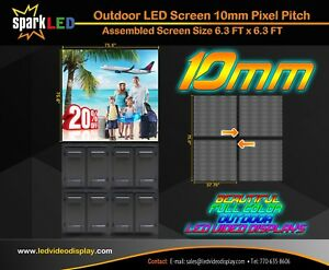 Outdoor Led Sign P10 6 x6 Full color Single sided Programmable Digital Display