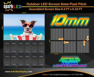 Outdoor Led Digital Sign P10 6 3 X 9 45 Full color Single sided Display