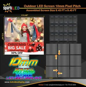 Outdoor Led Sign P10 9 45 x9 45 Full color Single sided Digital Display