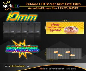 Outdoor Led Sign P10 3 15 x9 45 Full color Single sided Digital Display