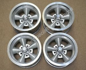 Vintage 14 X 7 Aluminum 5 Spoke Wheels 5 On 4 75 American Racing Gm Chevrolet