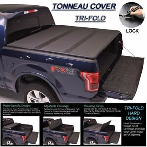 Fit 94 04 Chevrolet S10 gmc S15 Tri fold Solid Hard Tonneau Cover 6ft Short Bed