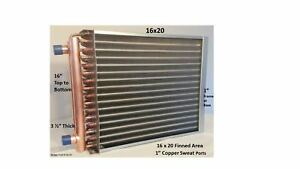 Water To Air Heat Exchanger 16x20 1 Copper Ports W Ez Install Front Flange