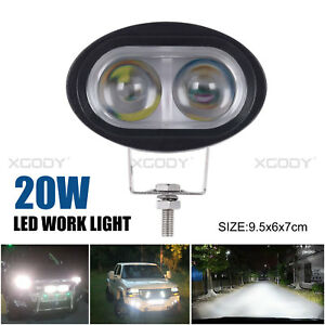 20w Led Spot Work Lights Offroad Driving Fog Lamps For Jeep Atv Boat Car Trucks