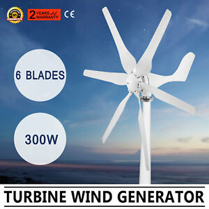 Wind Turbine Generator 300w Dc12v Wind Energy 6 Blades Electricity Newest Design