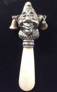 Vintage Sterling Silver Baby Rattle
