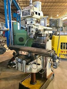 Kingston Vertical Milling Machine New 2000 10 x50 Table 40 Taper Dro Pf