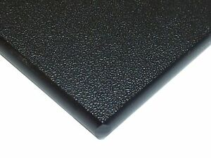 Black Marine Board Hdpe Polyethylene Plastic Sheet 1 4 X 24 X 48 Textured
