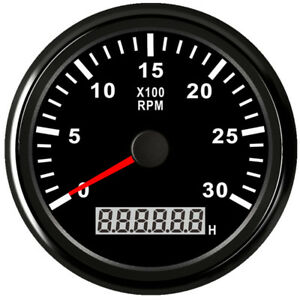 85mm Black Tachometer 0 3000rpm For Gasoline Diesel Engine 9v 32v Free Shipping