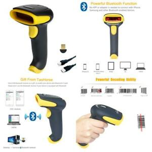 Taohorse 2 in 1 Usb Bluetooth Barcode Scanner Wireless amp Wired Handheld Lase