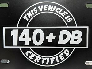 140 Db Certified Decal Sticker Dc Audio Sterio 16 Different Colors Available 7